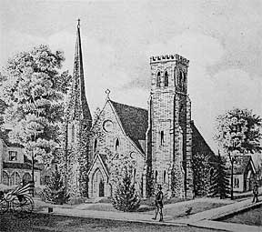 church sketch from the 1800s